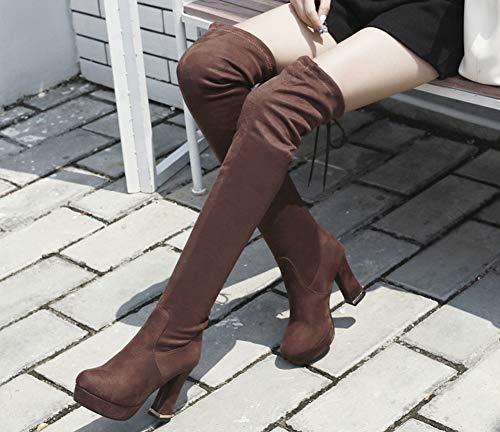 Tige Haute C Souple Mode Aisun Elastique Femme qwp4x4taB