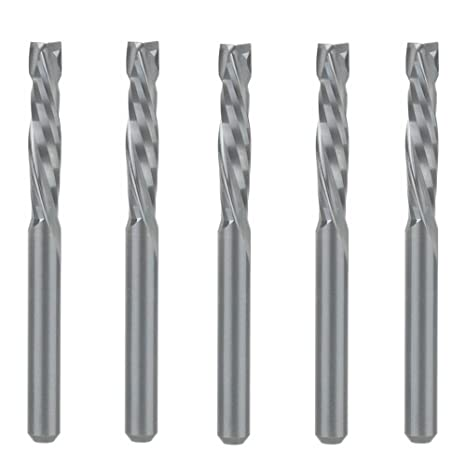 Details about  /10P Double Two Flute Straight Slot CNC Bit Wood MDF Milling Cutter 3.175x1.5x7mm