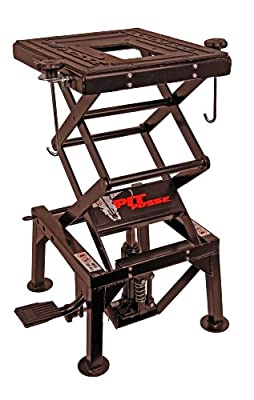 Pit Posse PP2551 Motorcycle Cycle Dirt Bike ATV Scissor Floor Jack Lift Center Stand 2Yr. Warr