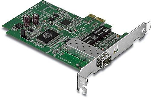 TRENDnet SFP PCIe Adapter, Gigabit 2000 Mbps, Full-Duplex, Compatible with Windows/Mac/Linux, TEG-ECSFP by TRENDnet
