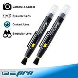 Precision Lens Cleaner Brush Pen by I3EPro | Micro Bristle Lens Cleaning Pen Tool for DSLR Camera Lens, Eyeglasses, Contact Lenses, Binoculars, Telescopes, Cellphone Screens | Pack of 2