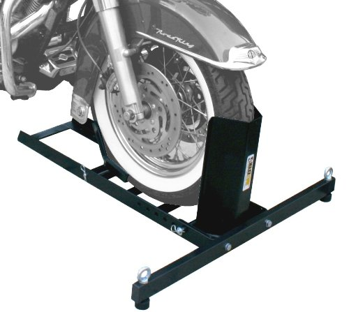 MaxxHaul 70271 Adjustable Motorcycle Wheel Chock Stand Heavy Duty 1800lb Weight Capacity (Best Harley Wheel Chock)