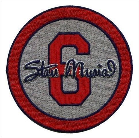 Emblem Source Stan The Man Musial No.6 St Louis Cardinals Memorial Gray Sleeve Patch, 2013