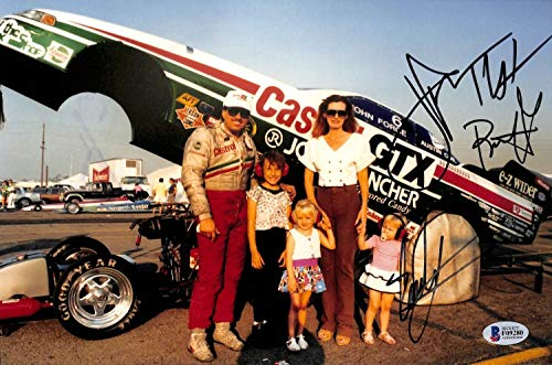 Force Family 3 John Courtney & Brittany Nhra Autographed Signed Memorabilia 8X12 Photo Beckett ()