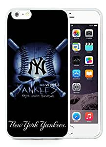 Newest iPhone 6 Plus/iPhone 6S Plus TPU Screen Case ,Unique And Fashionable Designed Case With New York Yankees White iPhone 6 Plus/iPhone 6S Plus 5.5 Inch TPU Phone Case