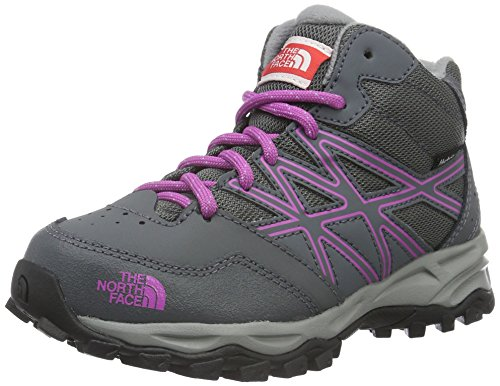 The North Face Jr Hedgehog Hiker Mid Wp - Zapatillas Niños Varios colores (Zinc Grey /     Wisteria Purple)