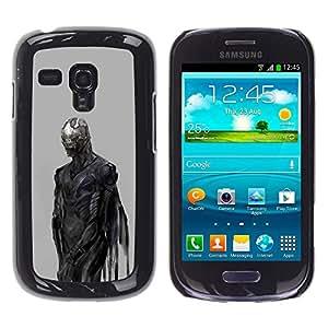 iKiki Tech / Estuche rígido - Devil Demon Grey Metal - Samsung Galaxy S3 MINI NOT REGULAR! I8190 I8190N