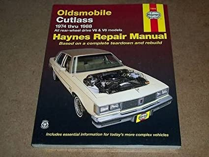 amazon com 1974 1988 olds cutlass haynes repair service manual rh amazon com 1977 Oldsmobile 1977 Oldsmobile