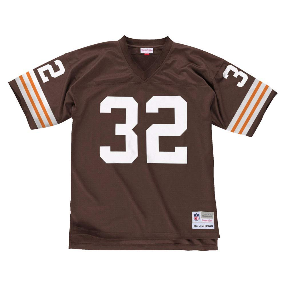 hot sales a1e2e 4c36b Jim Brown Cleveland Browns Mitchell and Ness Throwback Jersey