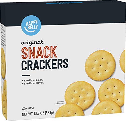Amazon Brand - Happy Belly Snack Crackers, Original Flavor, 13.7 ounce