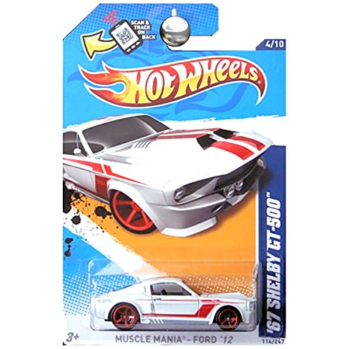 Hot Wheels 2012 Hw Showroom 1967 Ford Mustang Shelby Gt-500 GT500 White ()