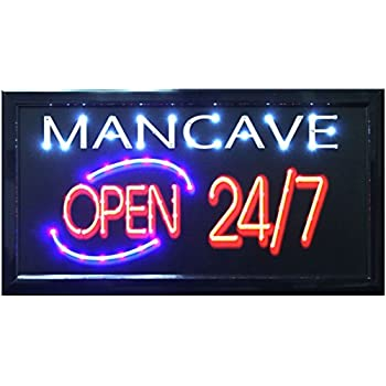 "Crystal Art ""Sign Of The Times"" Man Cave LED Lighted Sign, 10"" x 19"""
