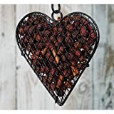Wire Mesh Heart with Cinnamon Potpourri