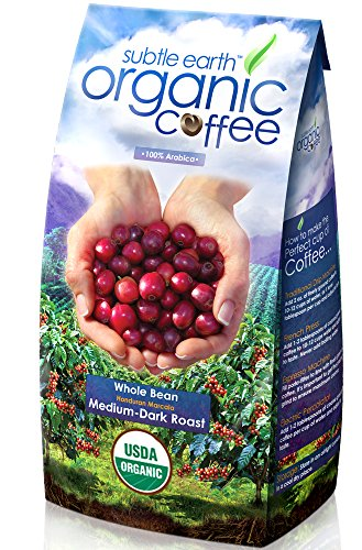 Cafe Don Pablo Gourmet Coffee Medium-Dark Roast Whole Bean Subtle Earth Organic 2 Pound
