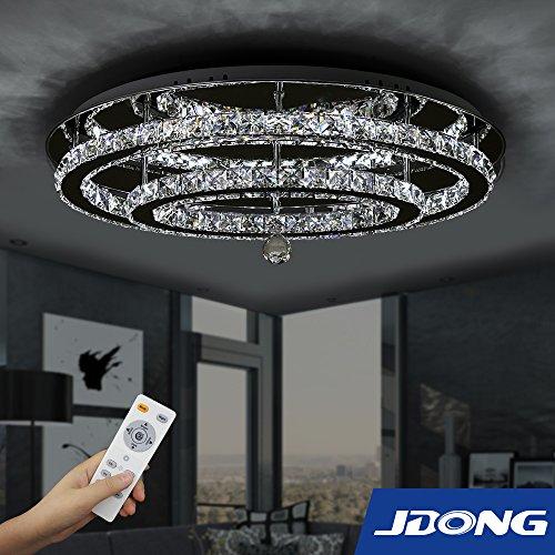 ReviewMeta.com: JDONG Hochwertige LED Kristall Deckenleuchte Deckenlampe  60W Diamant Style Kronleuchter Wohnzimmer Schlafzimmer Esszimmer Helligkeit  Und ...