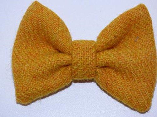 Bowzos Bow - Harris Tweed Citrus Yellow
