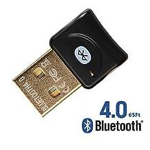 REDGO USB Bluetooth V4.0 Wireless Mini Adapter Dongle for PC Windows 10, 8, 7, Vista, XP, Classic Bluetooth, Stereo Headset Compatible, Black