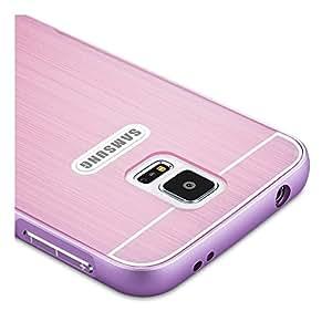 Rosa Aluminum Bumper Funda PC Back Case y Protector de Pantalla Para Samsung S5 G900 Vooway® MS00413