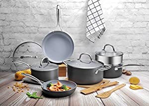 Cooksmark Hard Anodized Ceramic Cookware Set