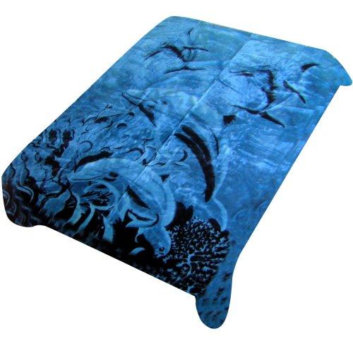 Trademark Home Acrylic Mink Dolphin Blanket