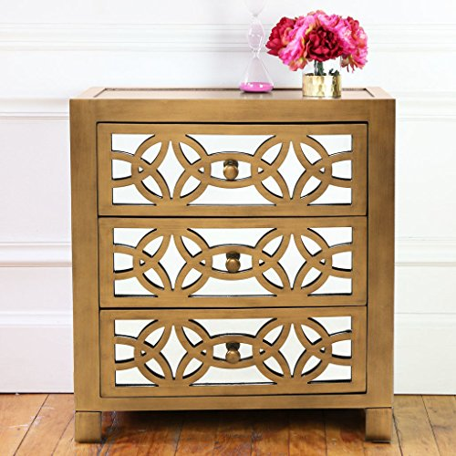 Willa Arlo Interiors Irvin 3 Drawer Mirror Chest, Gold by Willa Arlo Interiors
