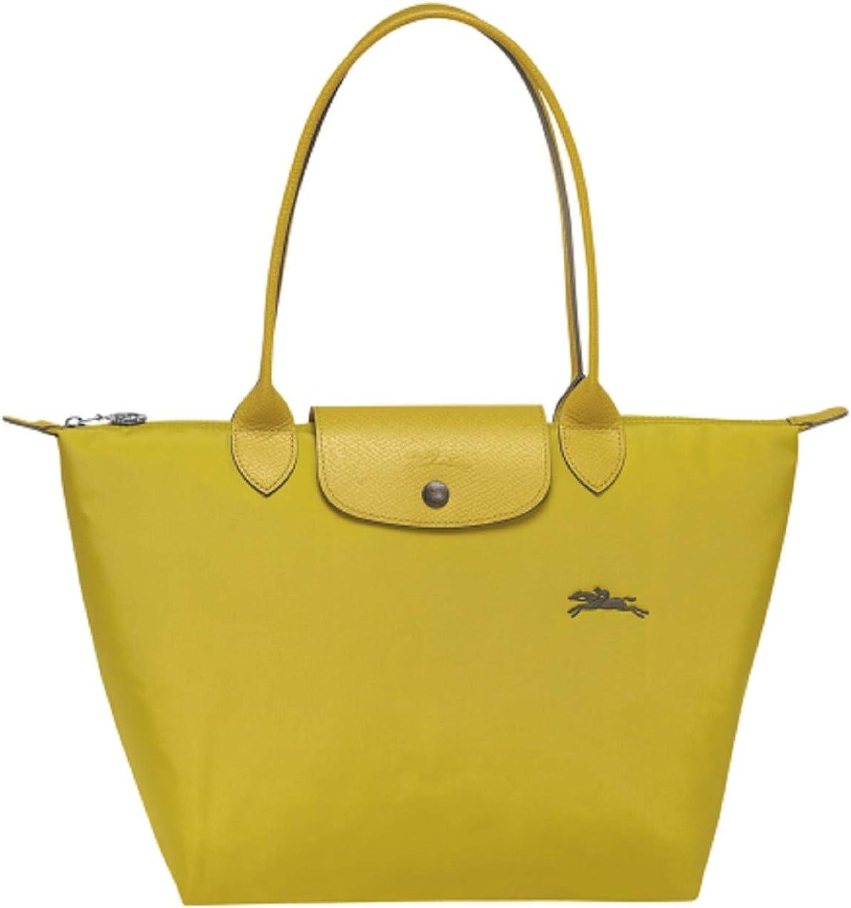 Amazon.com: Longchamp Le Pliage Club Large Shoulder Tote (Acid ...