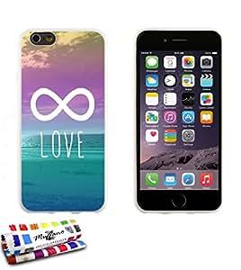 Carcasa Flexible Ultra-Slim APPLE IPHONE 6 4.7 POUCES  de exclusivo motivo [Infinity Love] [Blanca] de MUZZANO  + ESTILETE y PAÑO MUZZANO REGALADOS - La Protección Antigolpes ULTIMA, ELEGANTE Y DURADERA para su APPLE IPHONE 6 4.7 POUCES