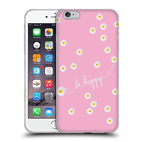 Officiel Monika Strigel Rose Pâquerette Heureuse Étui Coque en Gel molle pour Apple iPhone 6 Plus / 6s Plus