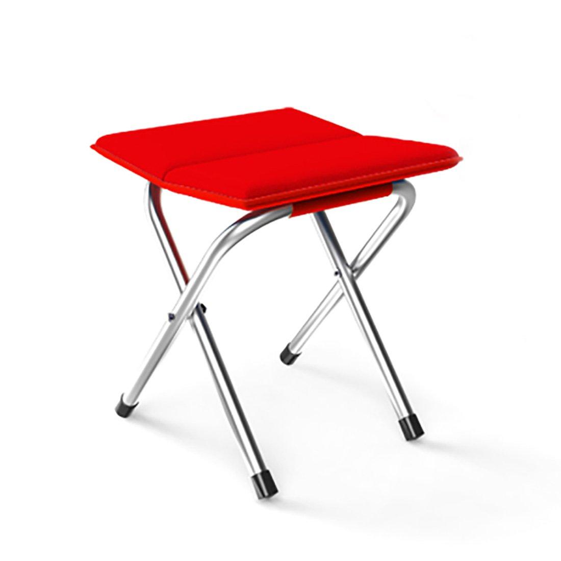 sannixミニポータブル折りたたみスツールアウトドアFolding Stool forキャンプ釣り旅行ハイキングGardenビーチquickly-fold椅子オックスフォード布 B071KKC1CB レッド レッド