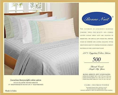Bonne Nuit 500 Thread Count Hotel Collection Luxury Bedding Bed Sheets
