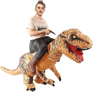 Timagebreze Disfraces de EquitacióN Disfraz de Dinosaurio Inflable ...