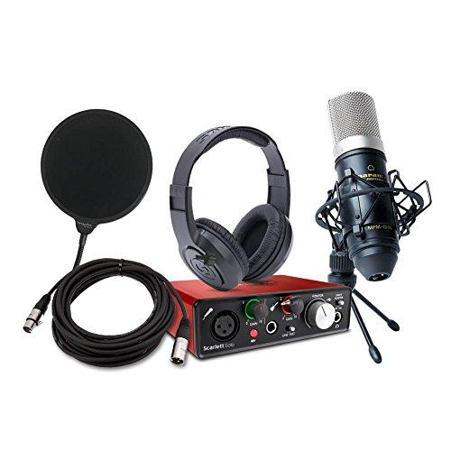 Price comparison product image Focusrite Scarlett Solo (2nd Gen) USB Audio Interface bundle with Marantz Pro Microphone and Samson Headphones