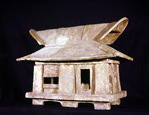 Escultura de la casa Japonesa de Arcilla Nfired de una casa diseñada para enterrar el Kofun japonés del Siglo XX-6º con...