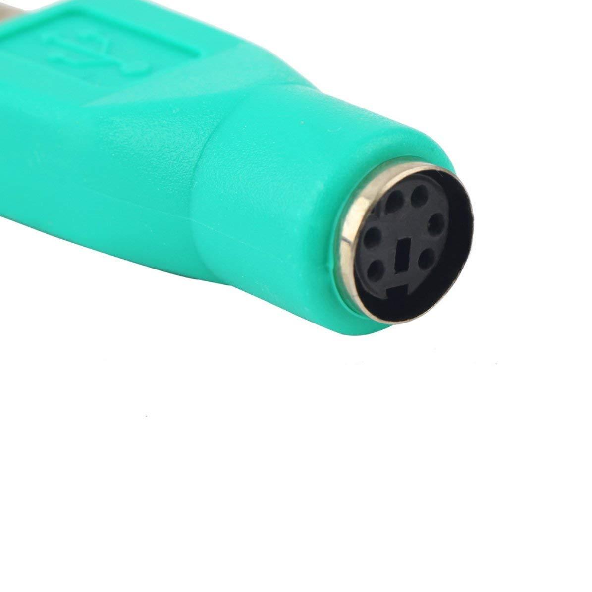 Leggero Pratico USB Maschio per PS2 Femmina Adattatore Cavo convertitore per Computer PC Notebook Portatile Tastiera Mouse