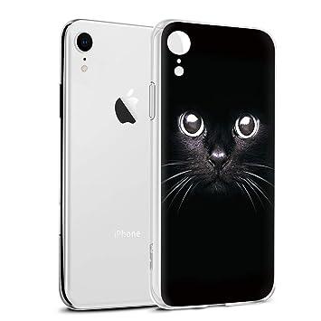 Funda iPhone XR, Eouine Cárcasa Silicona 3D Transparente con Dibujos Diseño Suave Gel TPU [Antigolpes] de Protector Bumper Case Cover Fundas para ...