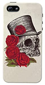 DailyObjects Dead Gentleman Case For Iphone 5/5S Back Cover White/Cream