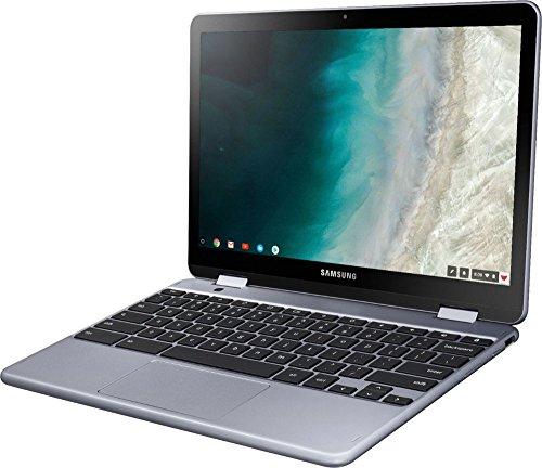 "Samsung - Plus 2-in-1 12.2"" Touch-Screen Chromebook - Intel Celeron - 4GB Memory - 32GB eMMC Flash Memory - Stealth Silver"