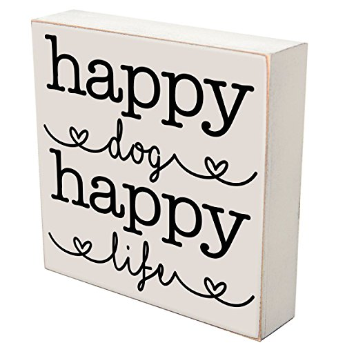 Happy Dog Happy Life Pets gifts for dog cat Pet Lover gift box Birthday gifts for pets 6x6 by DaySpring Milestones (Happy Dog Happy Life)