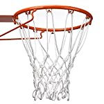 BBTO 12 Loop Heavy Duty Basketball Net Fits Standard Indoor or Outdoor Basketball Hoop (White)