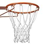 BBTO 12 Loop Heavy Duty Basketball Net Fits Standard Indoor or Outdoor Basketball Hoop (White)