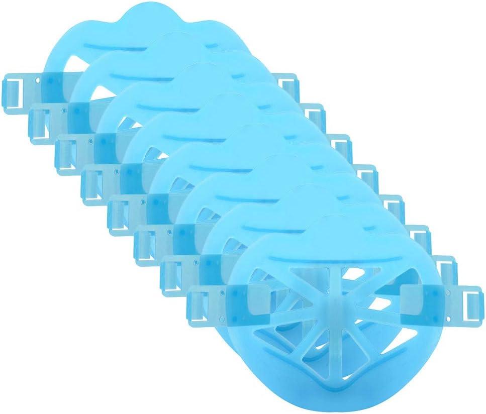 Eariy 6/8/15PC Soportes 3D para mascarilla Marco de Soporte Interno Reutilizable Lavable para una respiración cómoda Aumentar el Espacio de respiración Protección del lápiz Labial