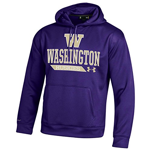 NCAA Washington Huskies Men's Armour Fleece Hoodie, Large, Purple