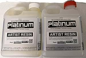 Artist EPOXY RESIN - 1:1 ULTRA CLEAR coating. UV StabilIsed 2 ltr + FREE BRUSH