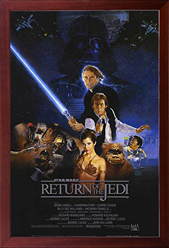 Brown Framed Return of the Jedi Star Wars Movie 27x40 Dry Mo