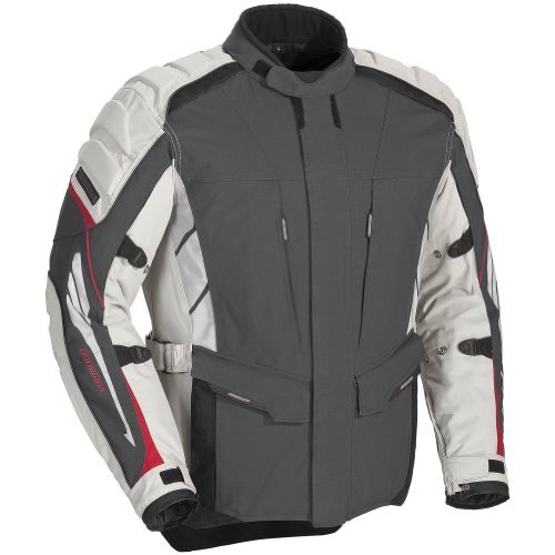 Adventure Textile Jacket (Fieldsheer Adventure Tour Men's Textile Street Motorcycle Jacket - Gun /)