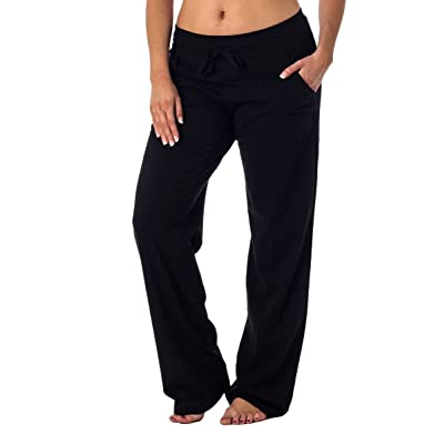Alki'i Women's Straight Leg Knit Lounge Pants With Pockets