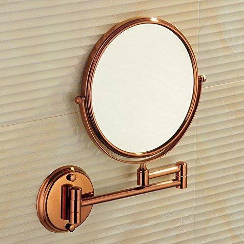 Light Moda Two - Two-sided magnified mirror/ rotating mirror/ folding mirror/ toilet telescopic mirror/ bathroom wall mirror-B