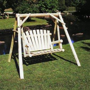 (Lakeland Mills A-Frame Porch Swing, 4')