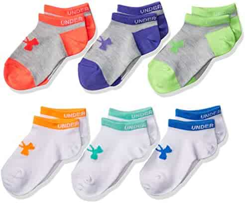 Under Armour Girls Essential No-Show liner socks (6 Pairs)