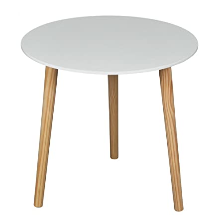 Beau ASPECT Wooden Side/End/Lamp/Coffee Table, 48 X 45 Cm, White: Amazon.co.uk:  Kitchen U0026 Home